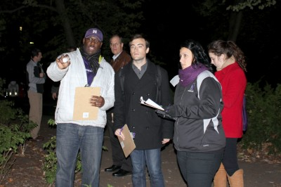 Northwestern officials, ASG representatives evaluate campus lighting