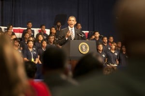 President Obama visits Chicago, addresses gun violence with calls for economic and community growth