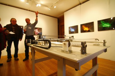 From laser photographs to drywall instruments, sculptors begin exhibit at Evanston Art Center