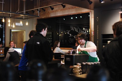 Starbucks re-opens with larger downtown location