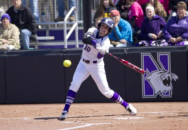 Softball: Northwestern run-rules UC Santa Barbara 10-1 after 4 canceled games