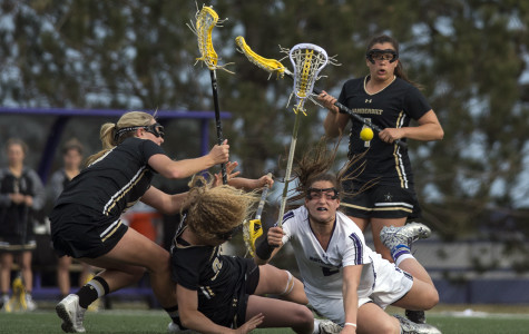 Lacrosse splits home games, defeats Vanderbilt but falls to Johns Hopkins