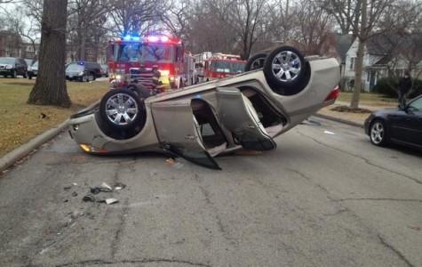 Evanston resident injured Wednesday in rollover car crash