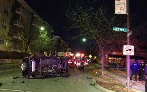 Car flipped over after Thursday morning crash