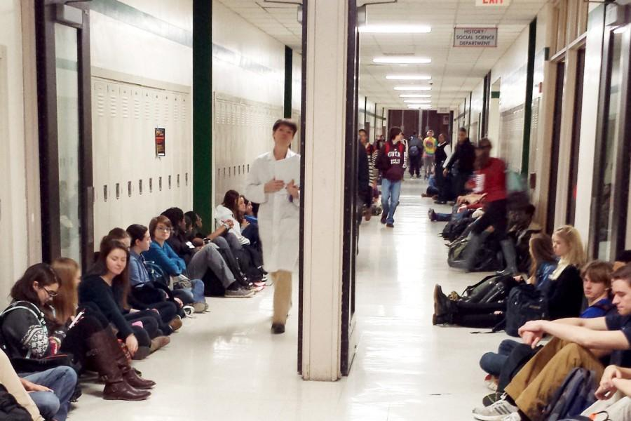 Evanston Township High School students protest Brown, Garner decisions