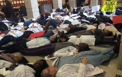 Feinberg community holds 'die-in' protest of Brown, Garner decisions