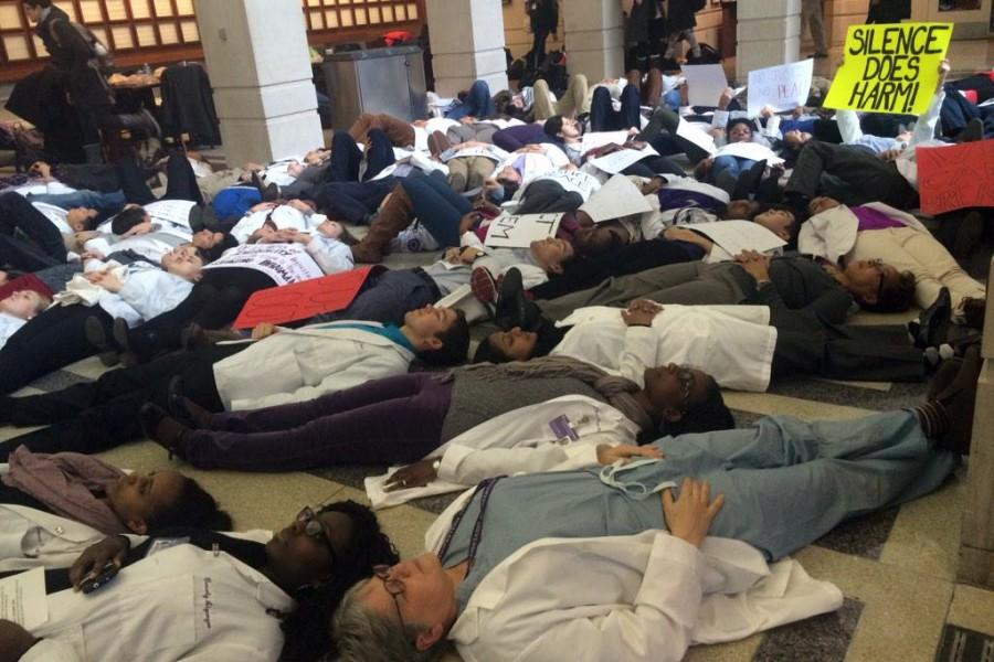 Feinberg community holds 'die-in' protest of Brown, Garner decisions