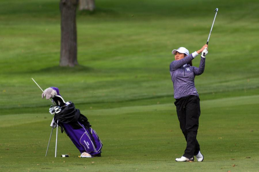 the daily northwestern women s golf wildcats place