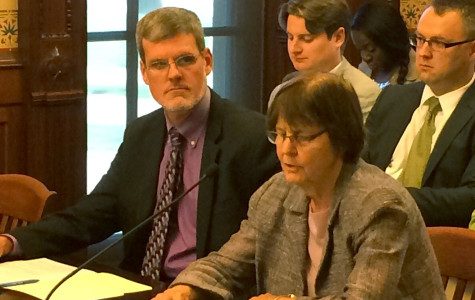 Evanston Mayor Elizabeth Tisdahl talks pension reform in state capital