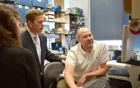 Rep. Bob Dold talks medical research funding bill with NU faculty