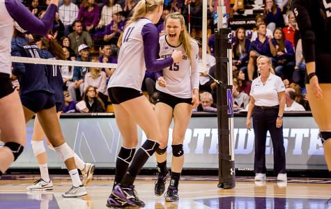Captured: Volleyball upsets No. 3 Penn State