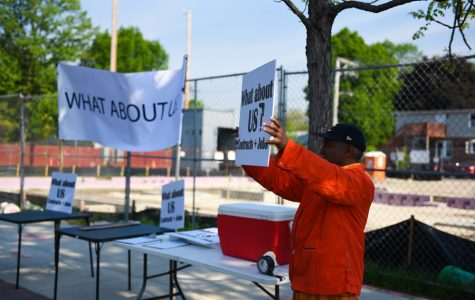 Activists hold second protest about contracting choices for new Y.O.U. center