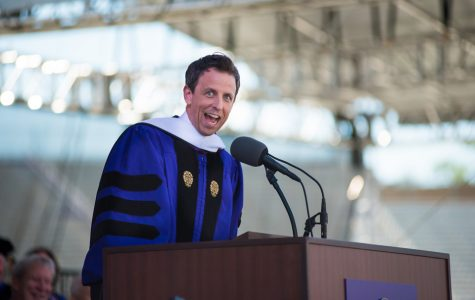 """Late Night"" host Seth Meyers encourages graduates to cherish their Northwestern friendships"