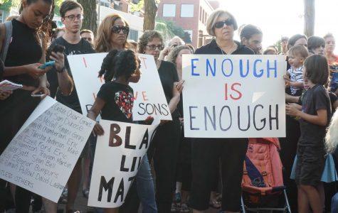 ETHS graduates lead Black Lives Matter demonstration at Fountain Square