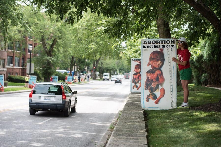 Anti-abortion rally sparks conversation, outrage among some Evanston residents