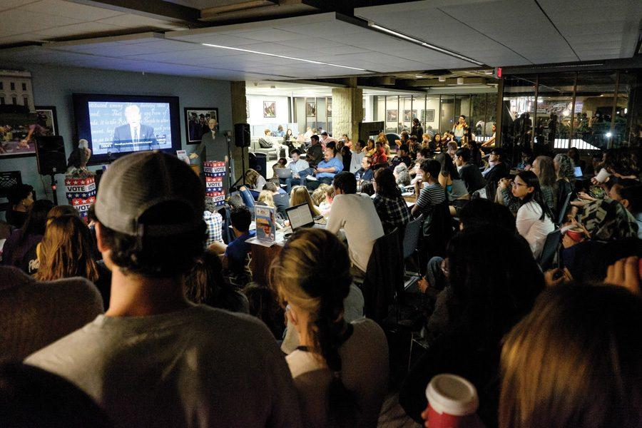 Students hold watch parties across campus for first presidential debate