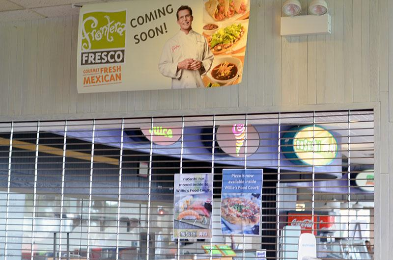 Frontera Fresco is expected to open on the ground floor of Norris University Center in late October.
