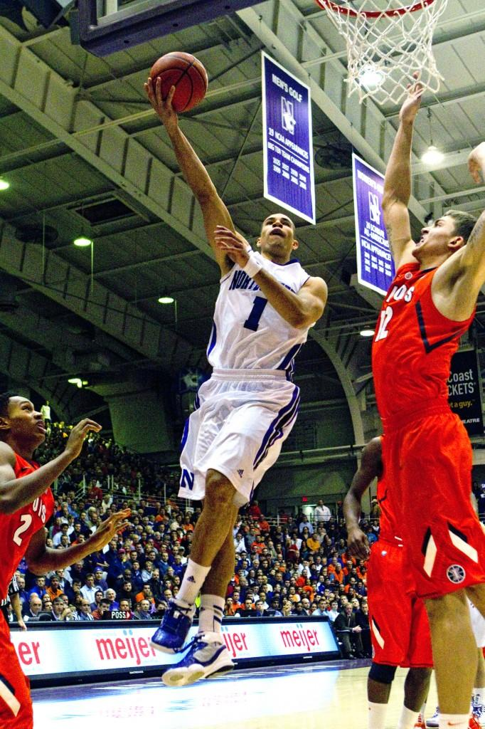 Northwestern forward Drew Crawford hopes to lead a young Wildcats team to the NCAA Tournament for the first time.