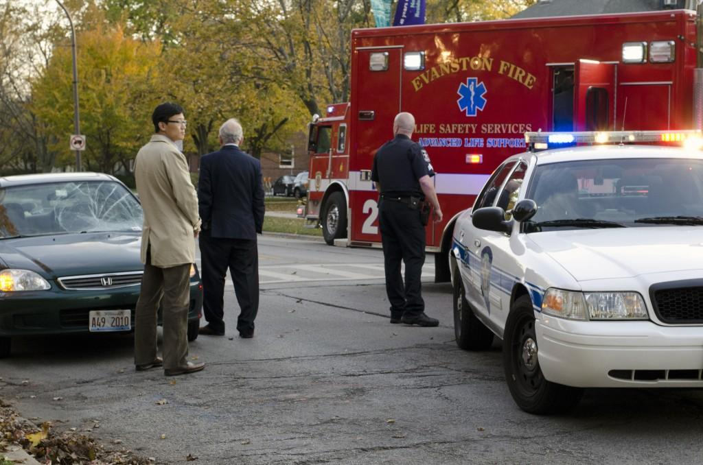 An Evanston resident drove into a female NU student Tuesday on Sheridan Road.
