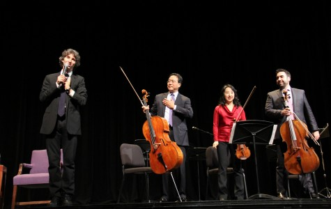 Cello extraordinaire Yo-Yo Ma, together with ballet star Damian Woetzel, talks about music and citizenship at Northwestern's Cahn Auditorium as part of the 23rd Annual Chicago Humanities Festival. Ma and Woetzel discussed how artists practice their citizenship as individuals and through institutions.