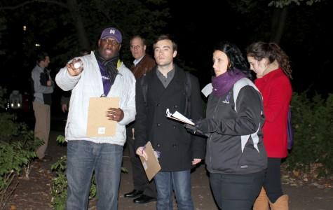 Northwestern officials, ASG representatives evaluate campus lighting