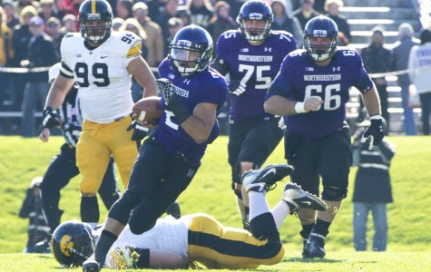 Football: Northwestern running game propels Homecoming victory over Iowa