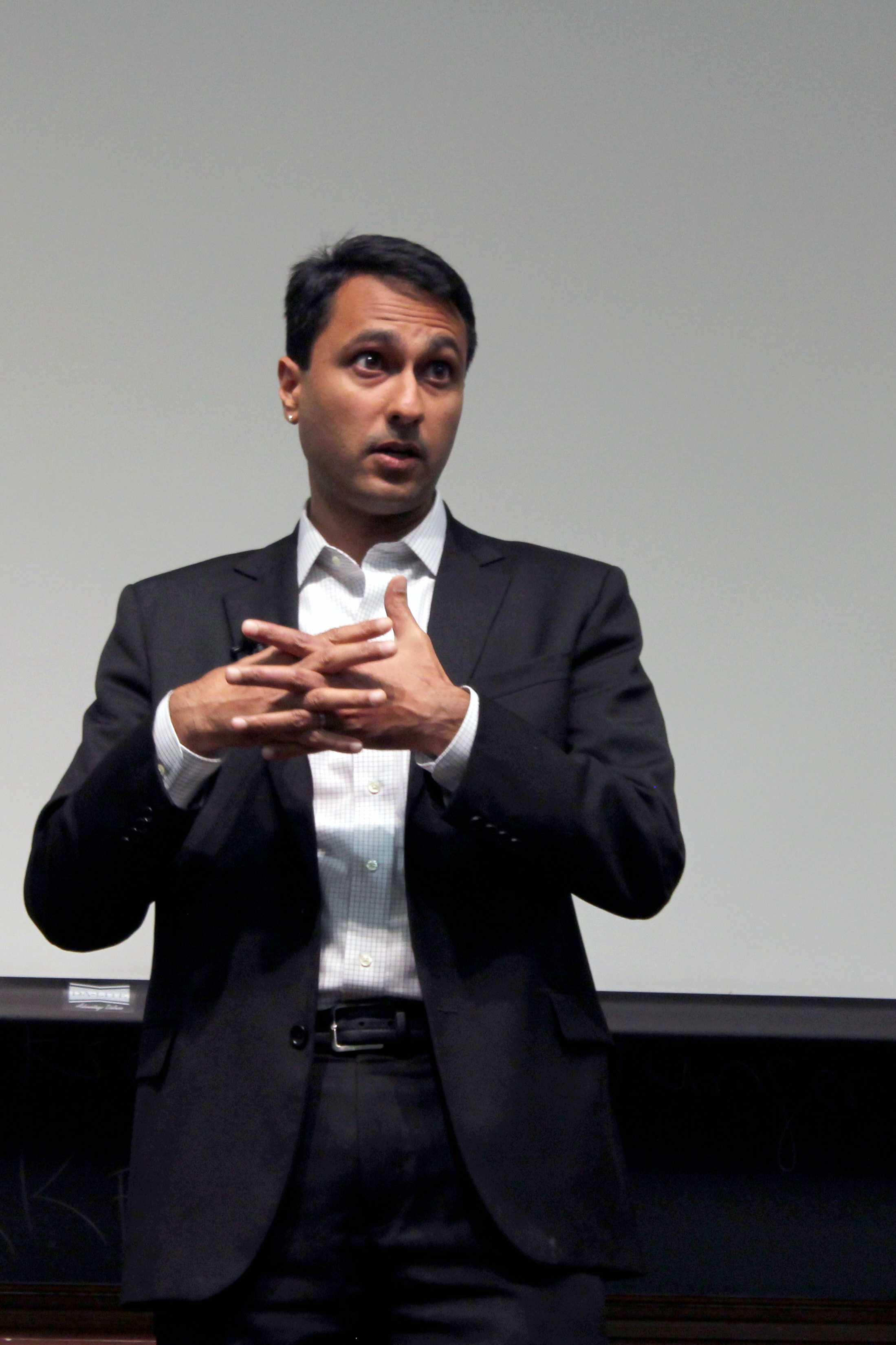 Eboo Patel challenges Northwestern students to participate in Interfaith cooperation. Patel, an adviser to President Barack Obama, spoke about his organization, Interfaith Youth Core and his work in promoting religious harmony.