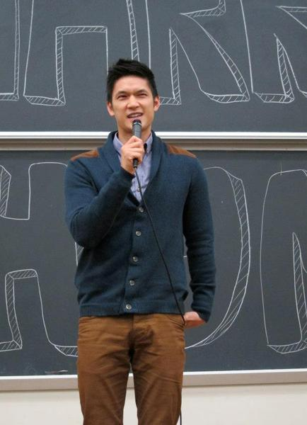 """Glee"" star Harry Shum Jr. took the stage as the Taiwanese American Students Club's fall speaker."