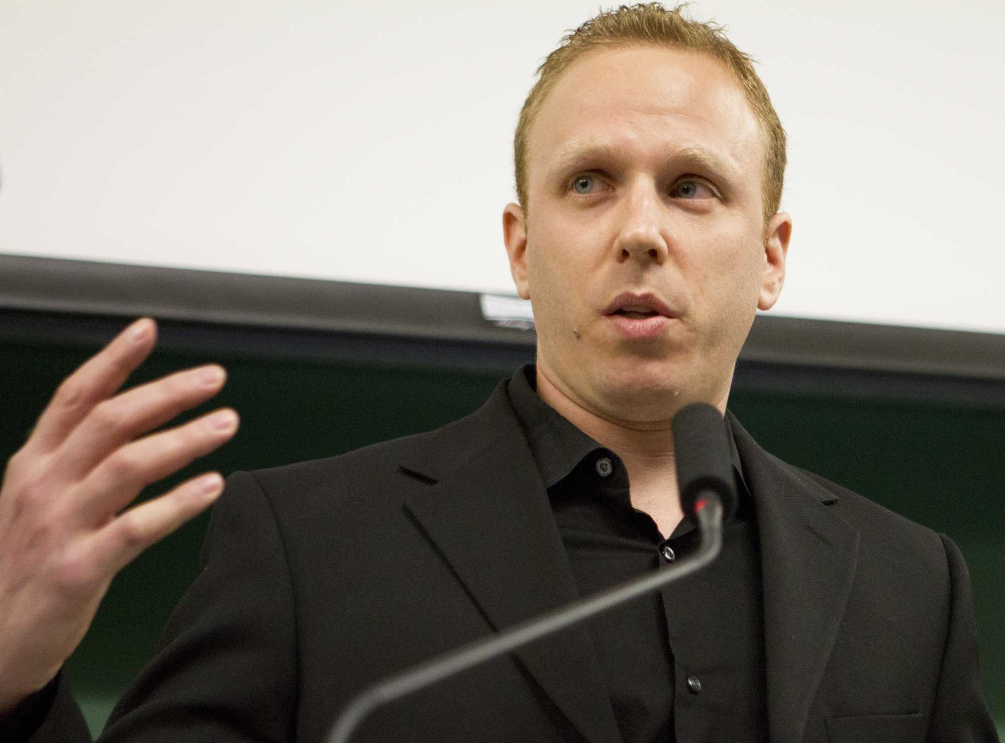 Journalist and author Max Blumenthal speaks Monday night in Swift Hall on