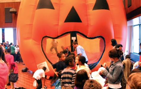 Children from Evanston, Chicago enjoy halloween activities at Norris
