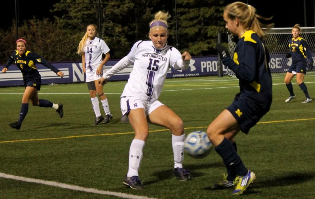 Sophomore midfielder Georgia Waddle scored in the 82nd minute to draw Northwestern even with Illinois. Waddle entered the game just one minute and five seconds before knocking home the critical goal.