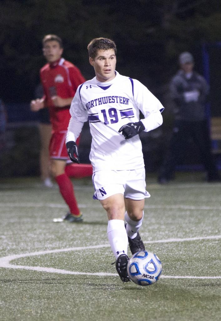 Northwestern+midfielder+Kyle+Shickel+celebrates+after+his+goal+against+Ohio+State.+Shickel+scored+one+of+the+Cats%27+two+goals+Wednesday+evening.