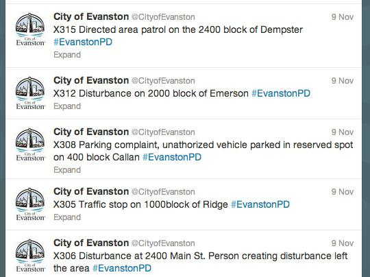 The Evanston Police Department on Friday held its annual tweet-along of 911 calls. The event was meant to show residents more about day-to-day work done by EPD.