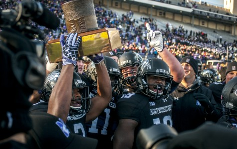 Football: Northwestern runs over Illinois to reclaim Land of Lincoln Trophy