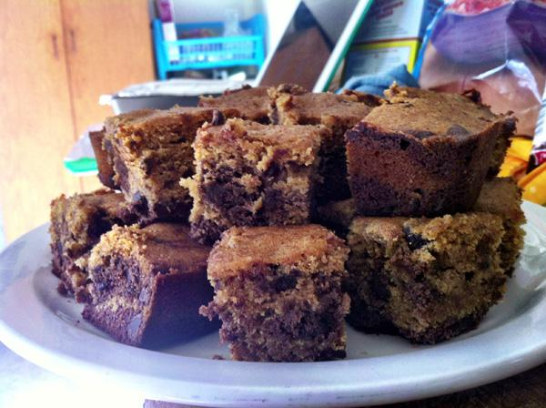 Layers of chocolate and pumpkin combine to make these brownies decadent and fall-appropriate.