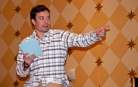 "The show must go on. Jimmy Fallon sent his audience home before Hurricane Sandy hit, but he continued to film ""Late Night."""