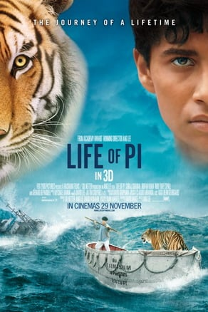 """Life of Pi,"" a strikingly visual, novel-based movie recounting a boy stranded at sea with a tiger, opened Nov. 21."