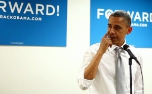 Updated: Emotional Obama thanks campaign workers after winning re-election