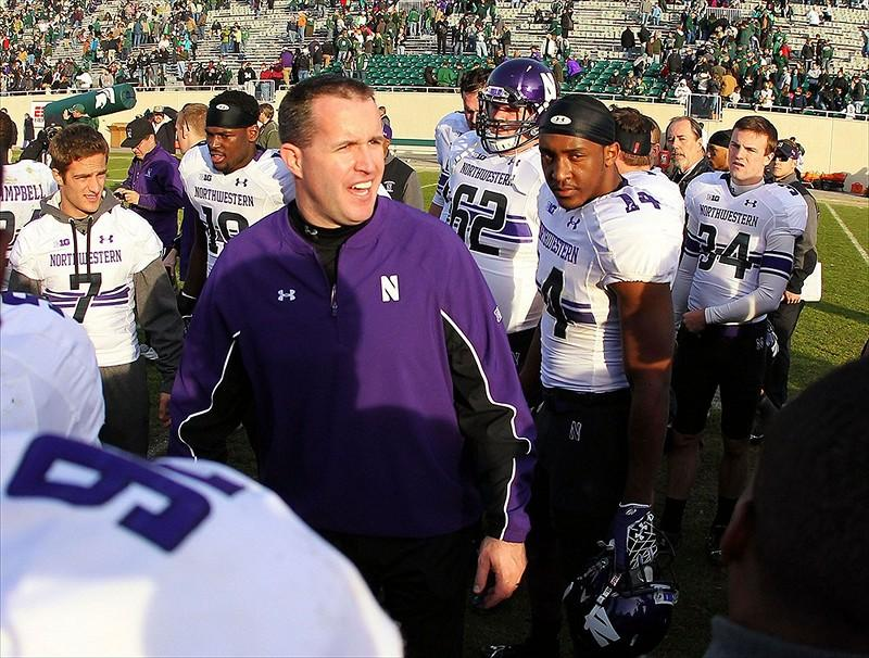 Northwestern coach Pat Fitzgerald should have plenty of inspirational material for his team prior to Tuesdays Gator Bowl. A Wildcats win would give the program its first bowl win since 1949.