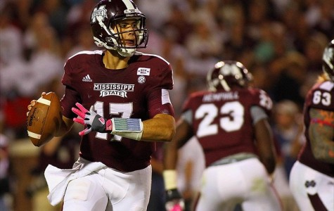 Mississippi State quarterback Tyler Russell threw just six interceptions this season, compared to his 22 touchdown passes. He helped lead the Bulldogs to the 50th best passing attack in the country this year.