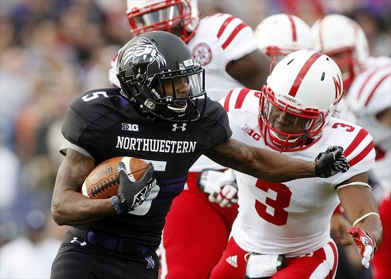Northwestern+running+back+Venric+Mark+became+the+15th+player+in+NU+history+to+rush+for+1%2C000+yards+in+a+season.+However%2C+it+was+his+two+punt+return+touchdowns+which+earned+him+a+spot+on+the+Football+Writers%27+Association+of+America+All-American+team+this+season.+