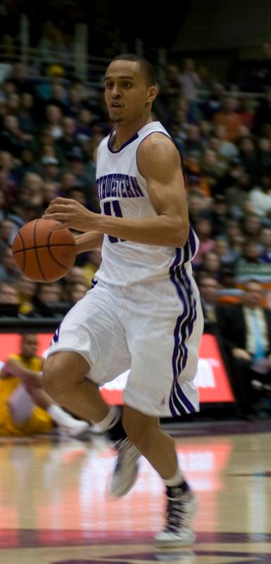 Senior guard Reggie Hearn looks to attack in a recent home game. Hearn was one of only two Northwestern starters who scored in double digits in a losing effort against Minnesota.