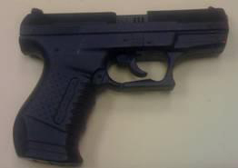 Evanston Police recovered this toy pistol from Adel Mohammed Sobhi, 19, a student at Evanston Township High School. Sobhi was charged with disorderly conduct in connection to the incident, one of several nationwide after the Newtown, Conn. school shooting.