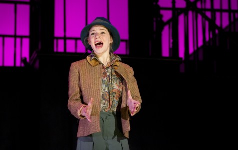 """Communication senior Lillie Cummings sings as Eliza Doolittle in the 71st annual Dolphin Show's production of """"My Fair Lady."""""""