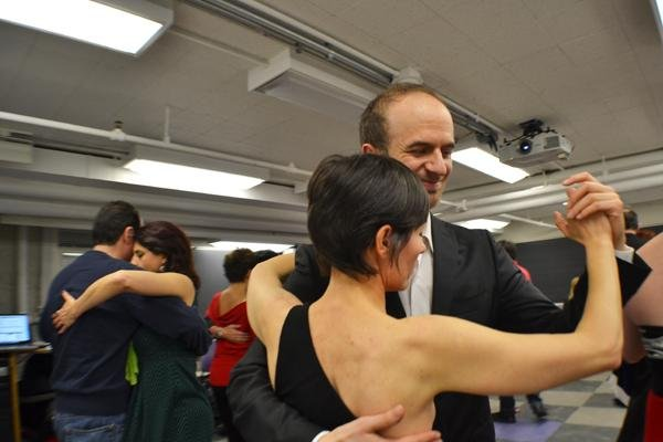 The department of Spanish and Portuguese invited dancers from Chicago to perform tango to students who attending A Night of Argentina. These dancers find events to dance at through tangomango.com and meet new fellow tango dancers at each get together.