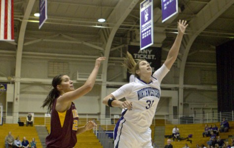 Dannielle Diamant (31) goes for the ball in a recent game. Diamant and the Cats fell to Indiana 68-64 on Sunday.