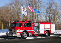 Evanston Fire and Life Safety Services will display its new eco-friendly 2012 Pierce Engine/Pumper at an open house Saturday.