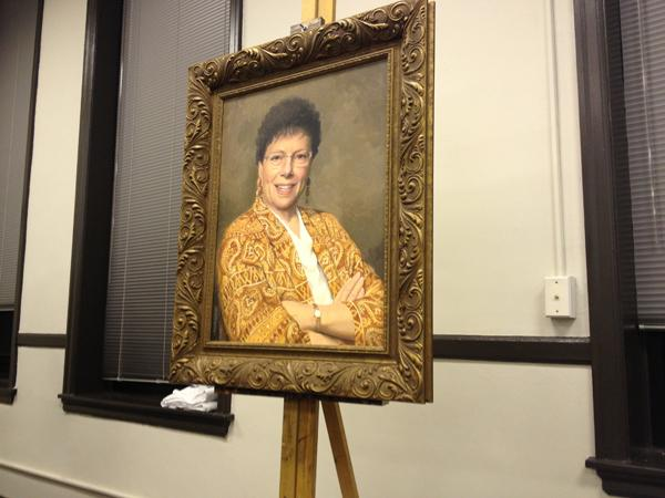 A portrait of former mayor Lorraine H. Morton was unveiled during Monday's city council meeting. Morton, 94, was present for the ceremony.