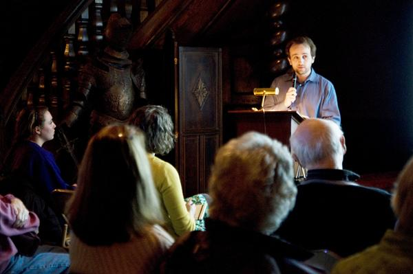 "Evanston author Josh Schonwald read passages from his nonfiction book, ""The Taste of Tomorrow: Dispatches from the Future of Food,"" at an Evanston History Center event on Thursday night."