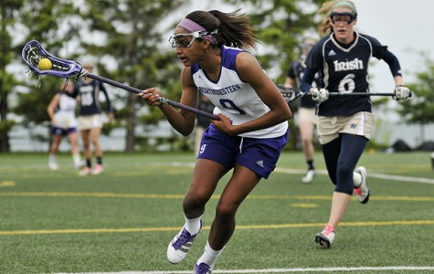 Senior midfielder Taylor Thornton tries to control the ball during a game against Notre Dame last year. Thornton will lead the No. 1 Wildcats to the south for two more games this weekend.